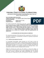 SCP 0604-2015-s1 Marco Antonio Cardozo Jemio - Derecho Presuncion de Veracidad de Hechos y Actos Denunciados Por El Accionante y Dilacion Indebida Procesal