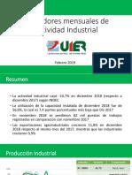 Indicadores Mensuales de Actividad Económica - Febrero 2019