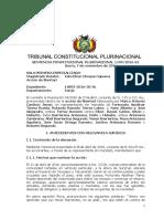 SCP 1109-2016-s1 Marco Antonio Cardozo Jemio - Derecho a La Vida e Integridad Fisica y La No Repeticion de Actos Que Atenten Contra La Misma