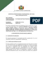 SCP 1307-2014-s3 Marco Antonio Cardozo Jemio - Derecho a Control Jurisdiccional en Vacaciones Judiciales