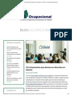 22 Treinamentos Que Devem Ser Descritos No ESocial - OcupacionalOcupacional