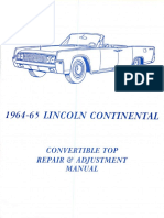 1964 65 Lincoln Continental Convertible Top Repair and Adjustment Manual
