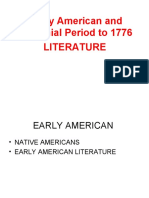 Early American and Colonial Period Literature - Meeting 2