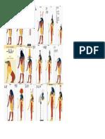 Deuses Egipcios Imagem Ampliada
