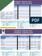 UTP Academic Calendar 2019