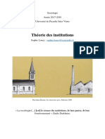 Louey, Sophie (libro2017) - Theorie des institutions