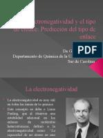 La Electronegatividad y El Tipo de Enlace