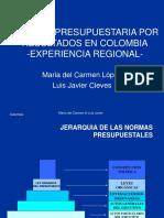 Gestión presupuestaria en Colombia