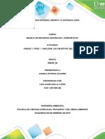 Análisis Sobre La Importancia Del Correcto Manejo de Los Recursos Naturales Para Los Objetivos de Desarrollo Del Milenio.