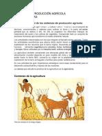 Marco Conceptual de Los Sistemas de Producción Agrícola