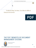 The Top 7 Benefits of Document Management Systems