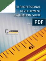 Teacher Professional Development Evaluation Guide
