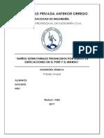 Daños Estructurales Producidos Por Sismos en Edificaciones en El Perú y El Mundo