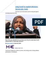 Republicans using Israel to exploit divisions among their Democratic rivals.docx