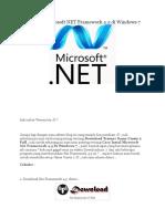 Cara Instal Microsoft NET Framework 4