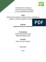 Proyecto de Asistencia Técnica Para El Desarrollo Minero y Control Minero