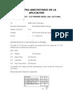 REGISTRO ANECDOTARIO DE LA APLICACIÓN