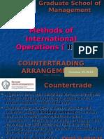 Counter Trading Arrangements