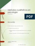 Métodos Cualitativos en Psicología1