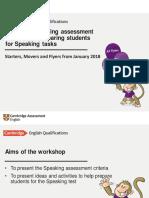 Using Speaking Assessment Criteria and Preparing Students for Speaking Tasks Jan 2018 FINAL-Davide Greene
