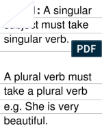 Subjec Verb Agreement