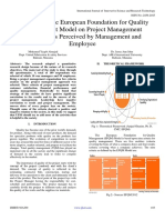 Adoption of the European Foundation for Quality Management Model on Project Management Operation as Perceived by Management and  Employee