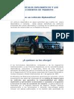 Vehiculos Diplomaticos y Accidentes de Transito