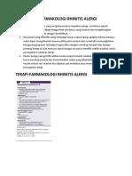 Terapi Non Farmakologi Dan Farmakologi Rhinitis Alergi