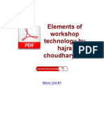Elements of Workshop Technology by Hajra Choudhary PDF ( PDFDrive.com )