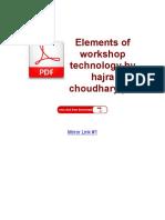 Elements of Workshop Technology by Hajra Choudhary PDF ( PDFDrive.com )
