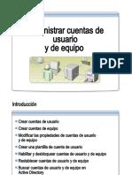 12.- Administrar Cuentas de Usuario y de Equipo