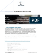 PhD Thesis Writing Services - Portuguese