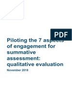 Seven Aspects Evaluation Report