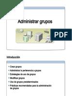 13.- Administrar grupos