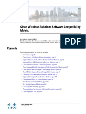 Compatibility Matrix | Wireless Access Point | Wireless Lan