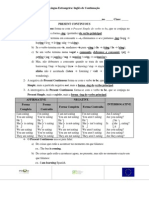 Ficha Present Continuous Ps vs Pc