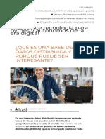 ¿Qué Es Una Base de Datos Distribuida y Porqué Puede Ser Interesante