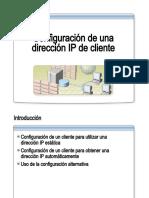 24.- Configuracion de Una Direccion IP de Cliente