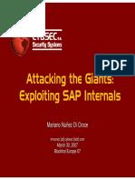Exploiting SAP - CYBSEC