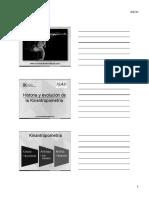 Tema 1 - Historia y Evolución de La Kinantropometria (2017)