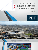 Costos de Los Juegos Olimpicos de Rio De