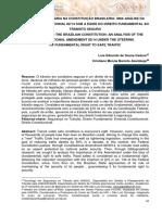 Artigo - A SEGURANÇA VIÁRIA NA CONSTITUIÇÃO BRASILEIRA