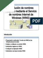 32.- Resolucion de Nombres NetBIOS Mediante WINS