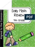 Daily Math Review - Fourth Grade