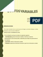 Costos II- Variable