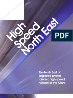 The North East of England's pivotal role in a high speed network of the future