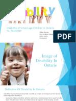 Disability of School-Age Children in Ontario Vs