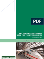 ARE HIGH-SPEED RAILWAYS GOOD FOR THE ENVIRONMENT