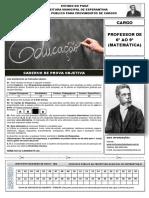 Caderno de Prova Professor de Matemtica 1466883802