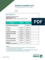 Siglo XXI Calendario Academico Mod Distancia 2019